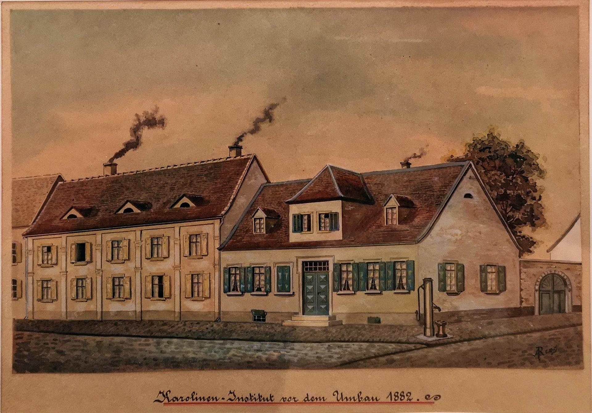 Karolinen-Institut vor dem Umbau 1882